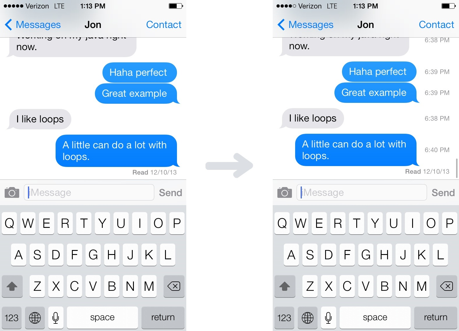 How To: See When A Text Was Sent on iOS 7 | SimpleiPhone
